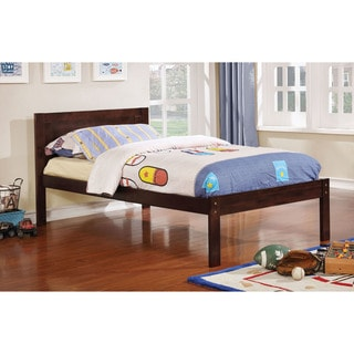 Furniture of America Nai Transitional Twin Solid Wood Platform Bed