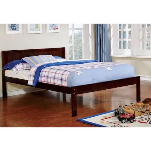 Furniture of America Nai Transitional Full Solid Wood Platform Bed