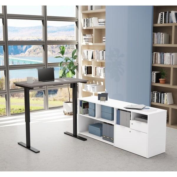 Bestar i3 Plus Height Adjustable L-Desk. Opens flyout.