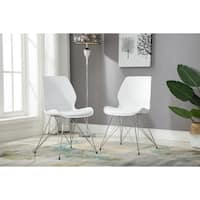 Porthos Home Midcentury Modern Cushioned Dining or Side Chair,Set of 2