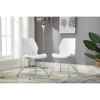 Porthos Home Midcentury Modern Cushioned Dining or Side Chair,Set of 2 (2 options available)
