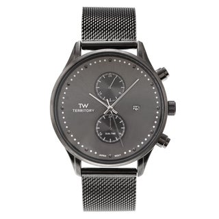 Territory Men's Round Stainless Steel Mesh Bracelet Watch