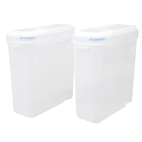BPA-Free Plastic Food Containers with Airtight Spout Lid, Set of 2