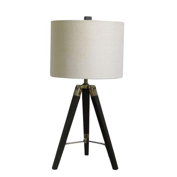 "Fangio Lighting's 2025ESP 28"" Espresso Wood Tripod Table Lamp"