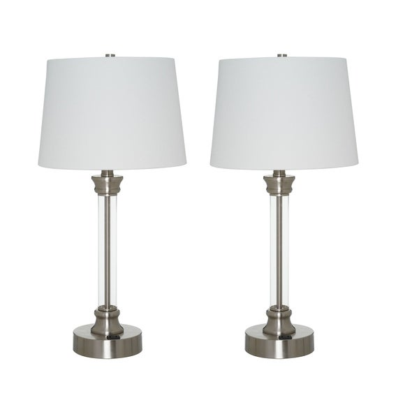 Catalina Lighting Sentra Set of 2 Clear Acrylic Table Lamps