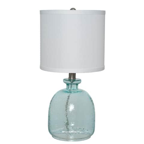 The Gray Barn Cedar Roost Ocean Blue Gl Table Lamp