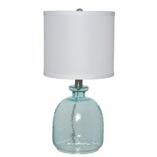 Havenside Home Brewster Ocean Blue Glass Table Lamp - Thumbnail 0