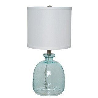 The Gray Barn Cedar Roost Ocean Blue Glass Table Lamp