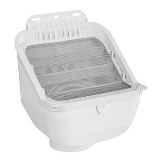 Leaf Eater Advanced White Downspout Filter Plastic