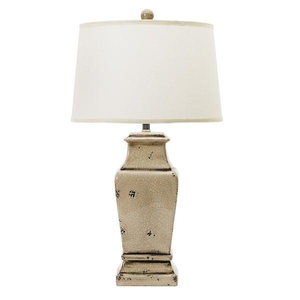Fangio Lighting Weathered Urn Grey Finish Ceramic 29-inch Table Lamp