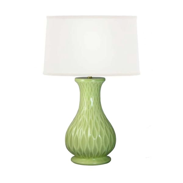 "Fangio Lighting's 8723 27.5"" Wave Ceramic Celedon Table Lamp"
