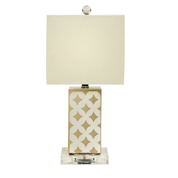 """Fangio Lighting's 8877 20"""" Ceramic Table Lamp in Transparent Grey"""