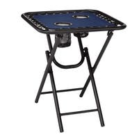 Living Accents  Bungee  Folding  Table  Blue
