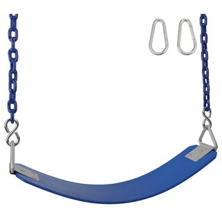 Swing Set Stuff Inc. Commercial Rubber Belt Seat with 8.5 Ft. coated chain