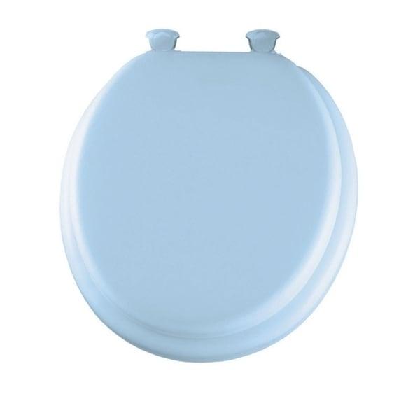 Shop Mayfair Vinyl Cushioned Toilet Seat Round Blue Free