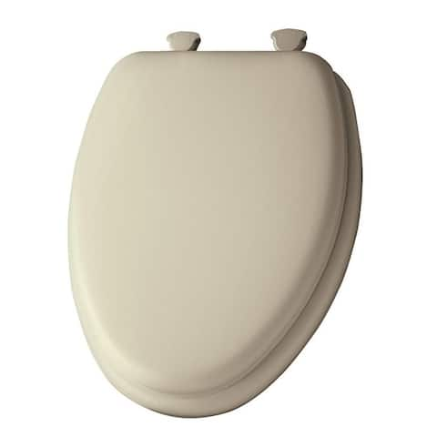 Mayfair Elongated Vinyl Cushioned Toilet Seat