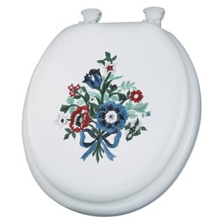 Mayfair Vinyl Slow Close Cushioned Toilet Seat Round White