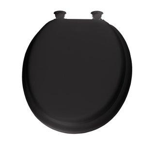 Mayfair Vinyl Slow Close Cushioned Toilet Seat Round Black