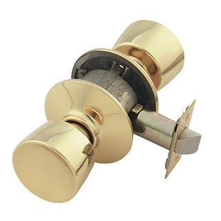 Schlage Bell Privacy Knob Bright Brass Steel 2 Grade Left or Right Handed