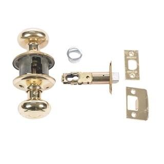 Schlage Georgian Passage Lockset Bright Brass Steel 2 Grade Left or Right Handed