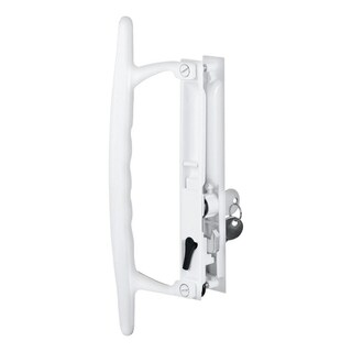 Prime-Line Patio Door Handle Set White Die-Cast Right Handed