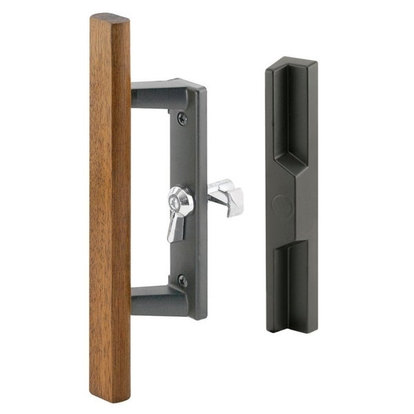 Shop Prime Line Patio Door Handle Set Woodblack Die Cast Free