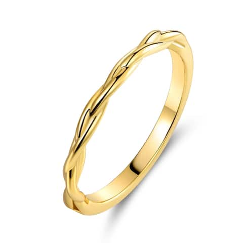 Gold Plated Round Eternity Braid Ring