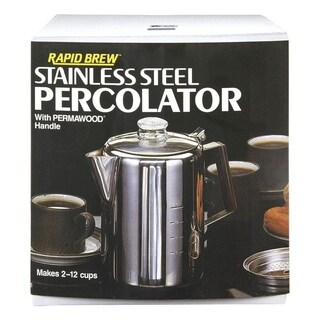 Tops Rapid Brew Percolator 12 cups Stainless Steel