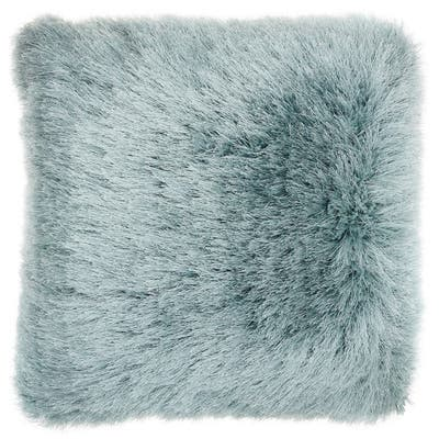 "Mina Victory Yarn Shimmer Shag Throw Pillow by Nourison (17"" x 17"")"