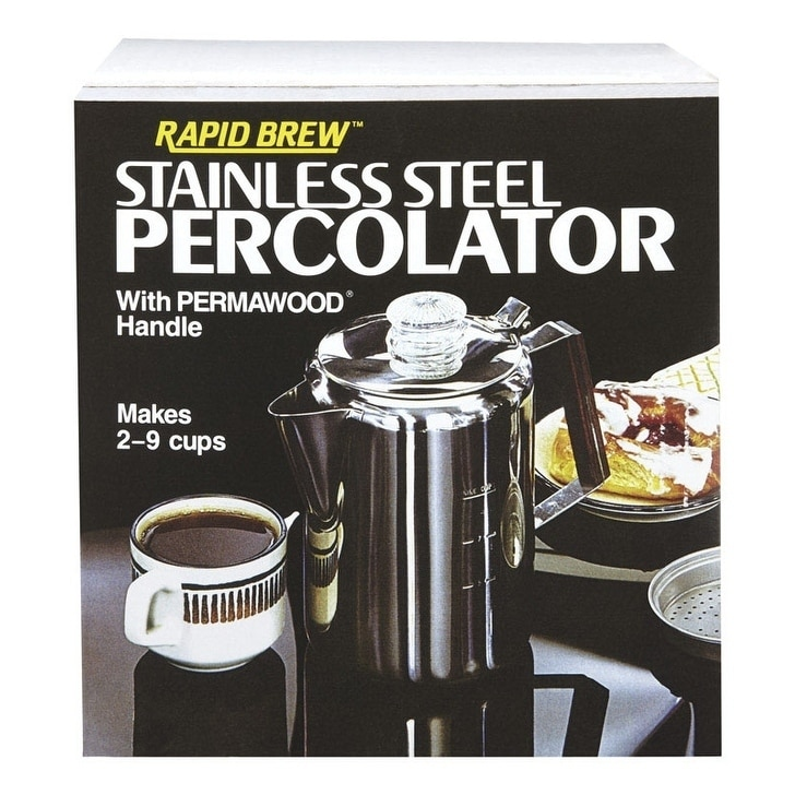 Tops Rapid Brew Percolator 9 cups Stainless Steel, Silver