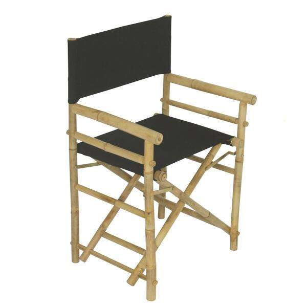 Shop Bamboo Director Chair Set Of 2 Chairs On Sale