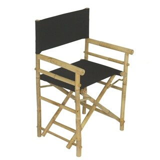 Canvas/Bamboo Director Chairs (Set of 2)