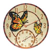 Springfield  Wall  Outdoor Clock and Thermometer