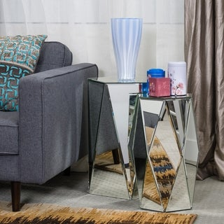 Mirrored Hexagonal Accent Tables