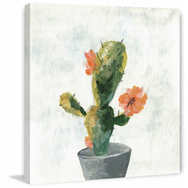 Shop  Cactus with Pot  Painting Print on Wrapped Canvas - On Sale ... 793ad6825