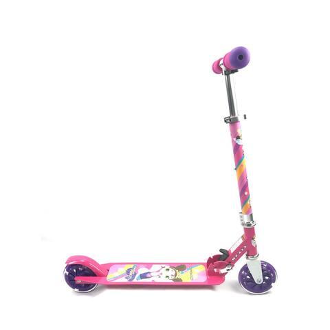 TITAN Flower Princess Folding Aluminum Girls Kickscooter with LED Light Up Wheels, Pink