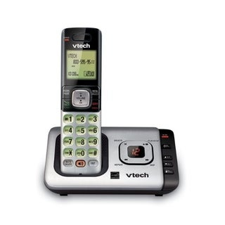 Vtech Cordless Gray Digital Telephone Built In Answering Machine Built In Caller ID 1