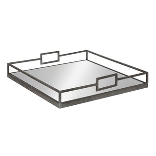 Kate and Laurel - Trask Square Metal Mirrored Tray