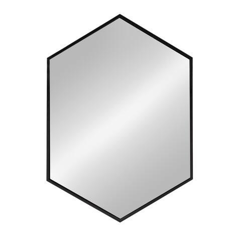 Kate and Laurel - McNeer Large Hexagon Metal Wall Mirror - 31x22