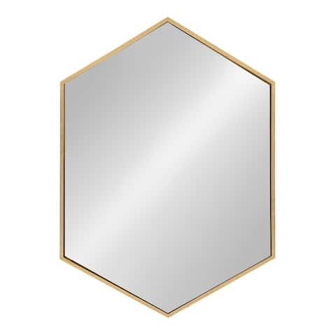 Kate and Laurel - McNeer Large Hexagon Metal Wall Mirror - 31x22