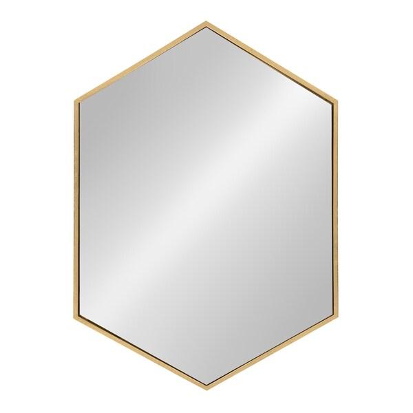 Kate and Laurel - McNeer Large Hexagon Metal Wall Mirror