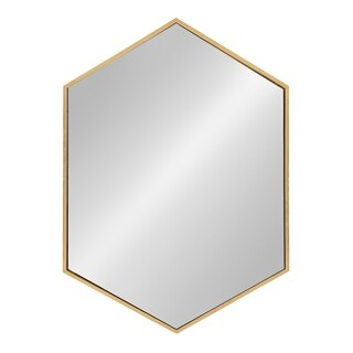 Kate and Laurel - McNeer Large Hexagon Metal Wall Mirror