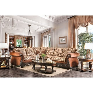 Furniture of America Bellina Traditional Floral Print Sectional