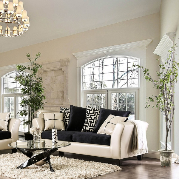 Best Furniture Stores In Usa: Shop Furniture Of America Rowalta Contemporary Black/Ivory