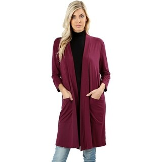 JED Women's 3/4 Sleeve Soft Fabric Solid Cardigan (More options available)