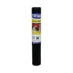 TENAX Poultry Fence 3 ft. H x 25 ft. L Black, Gardening