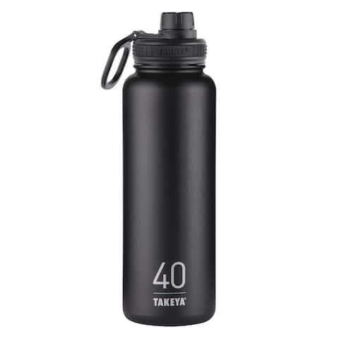 Takeya ThermoFlask Asphalt Stainless Steel Double Wall Tumbler BPA Free 40 oz.