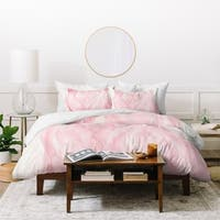 Viviana Gonzalez Delicate Pink Waves Duvet Cover Set