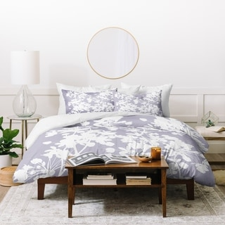 Link to Deny Designs Delicate Floral Pattern on Lilac Duvet Cover Set (3-Piece Set) Similar Items in Duvet Covers & Sets