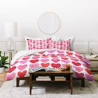 Amy Sia Heart Watercolor Duvet Cover Set